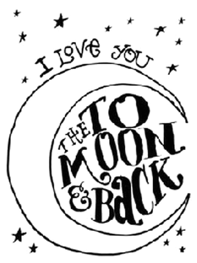 I Love You To The Moon And Back Coloring Pages part 1