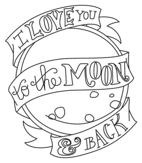 Coloring Pages I Love You to the Moon and Back I Love You to the Moon and Back Coloring Pages Part 2