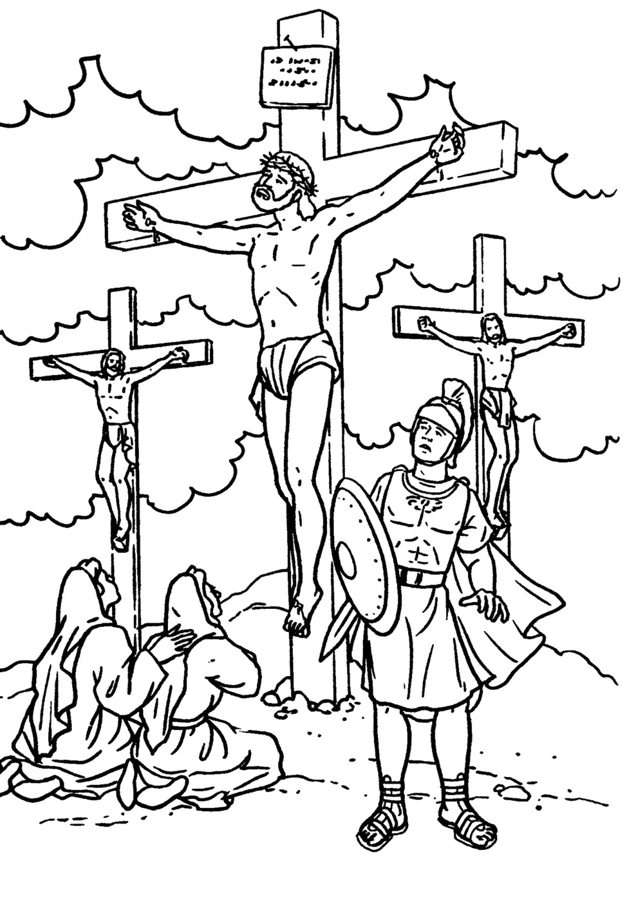 Coloring Pages Jesus Died On the Cross Jesus Died the Cross Coloring Page at Getdrawings