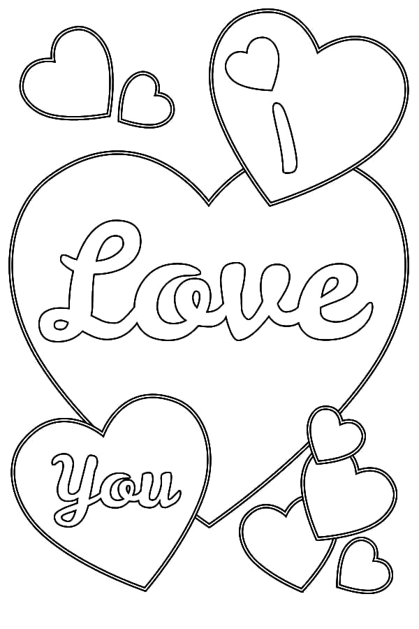 Coloring Pages Of Hearts that Say I Love You 35 Free Printable Heart Coloring Pages
