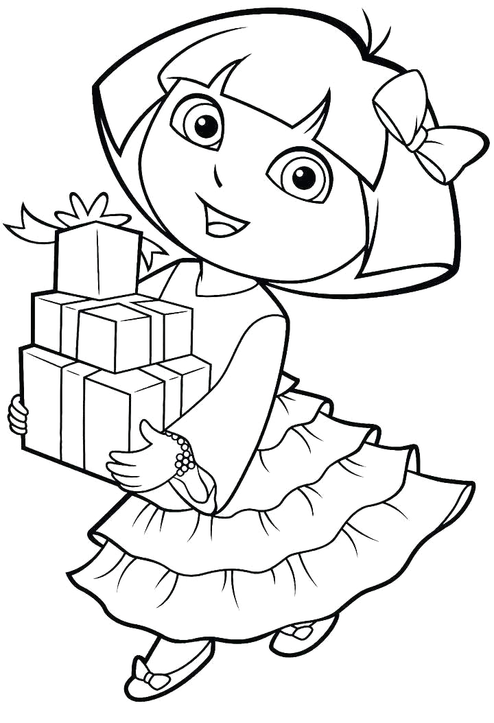 best dora the explorer coloring pages pictures