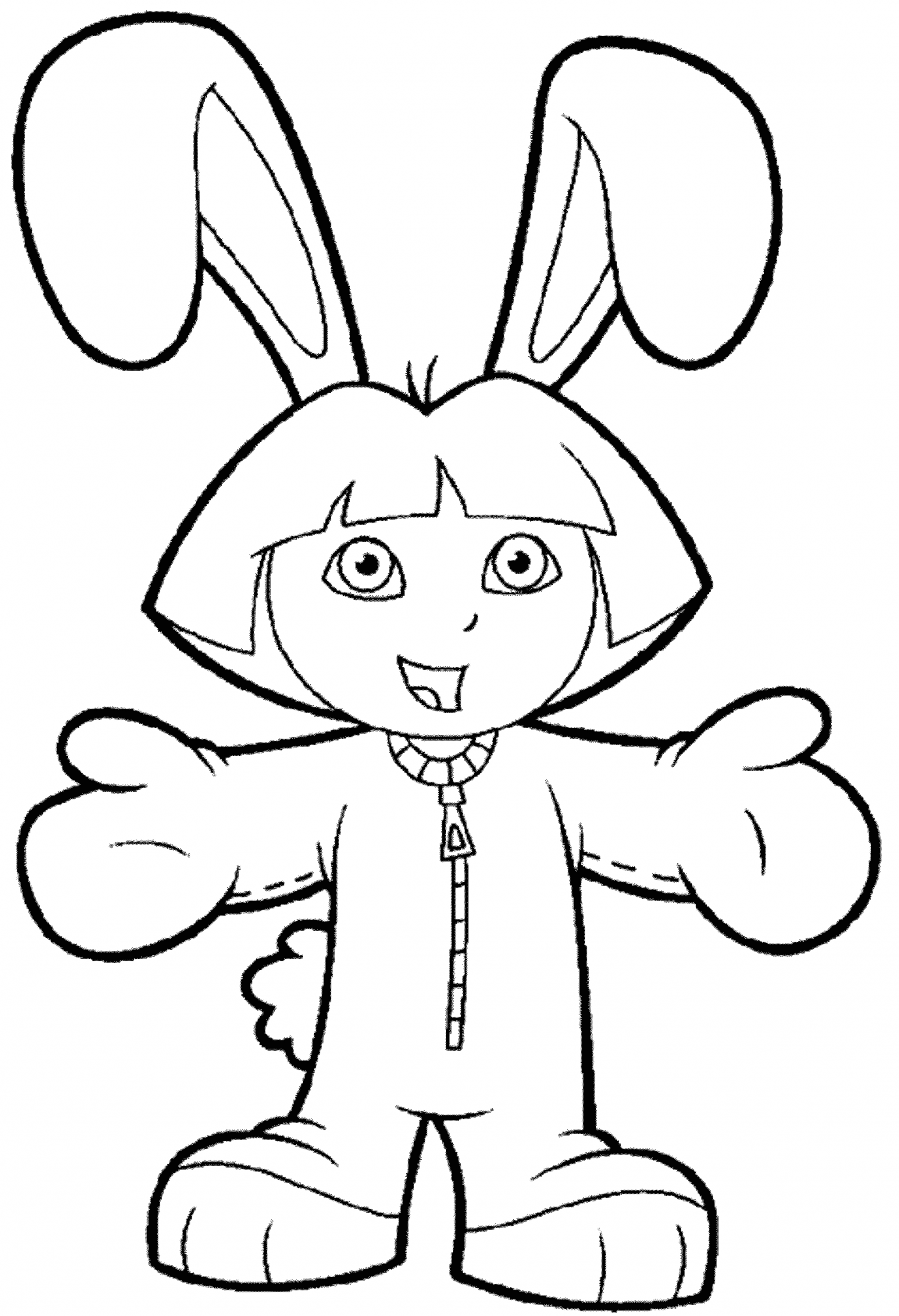 dora the explorer map coloring pages