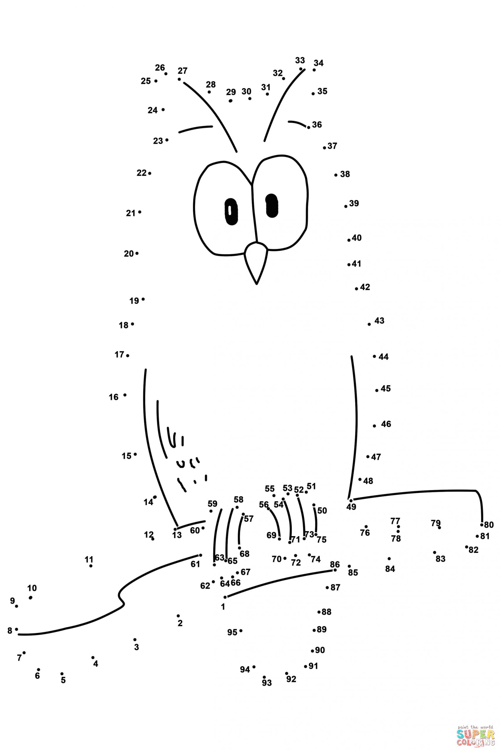Dot to Dot Coloring Pages 1 100 100 Dot to Dot Coloring Home