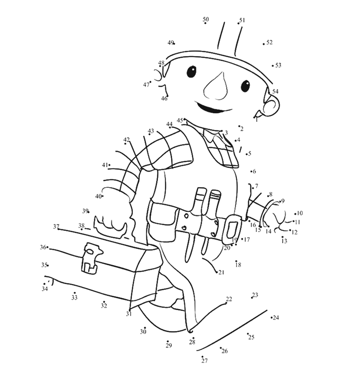 easy dot to dots coloring pages
