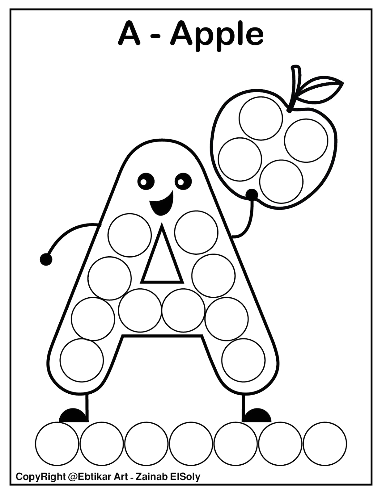 Dot to Dot Coloring Pages for Preschoolers Set Of Abc Dot Marker Coloring Pages