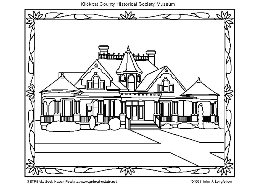 coloring page american museum i5748
