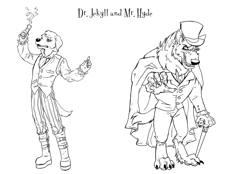 Dr Jekyll and Mr Hyde Coloring Page Dr Jekyll and Mr Hyde by Kikane On Deviantart