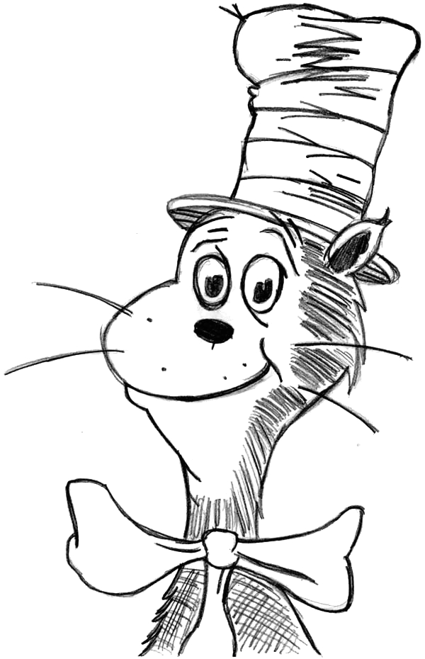 Dr Seuss Cat In Hat Coloring Pages Drawing Dr Seuss the Cat In the Hat Coloring Page Color Luna