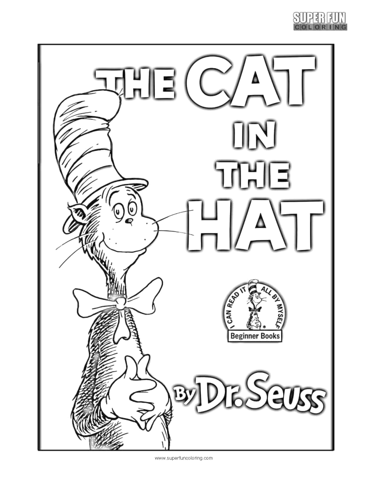 cat in the hat coloring pages dr seuss printable for kids 114r