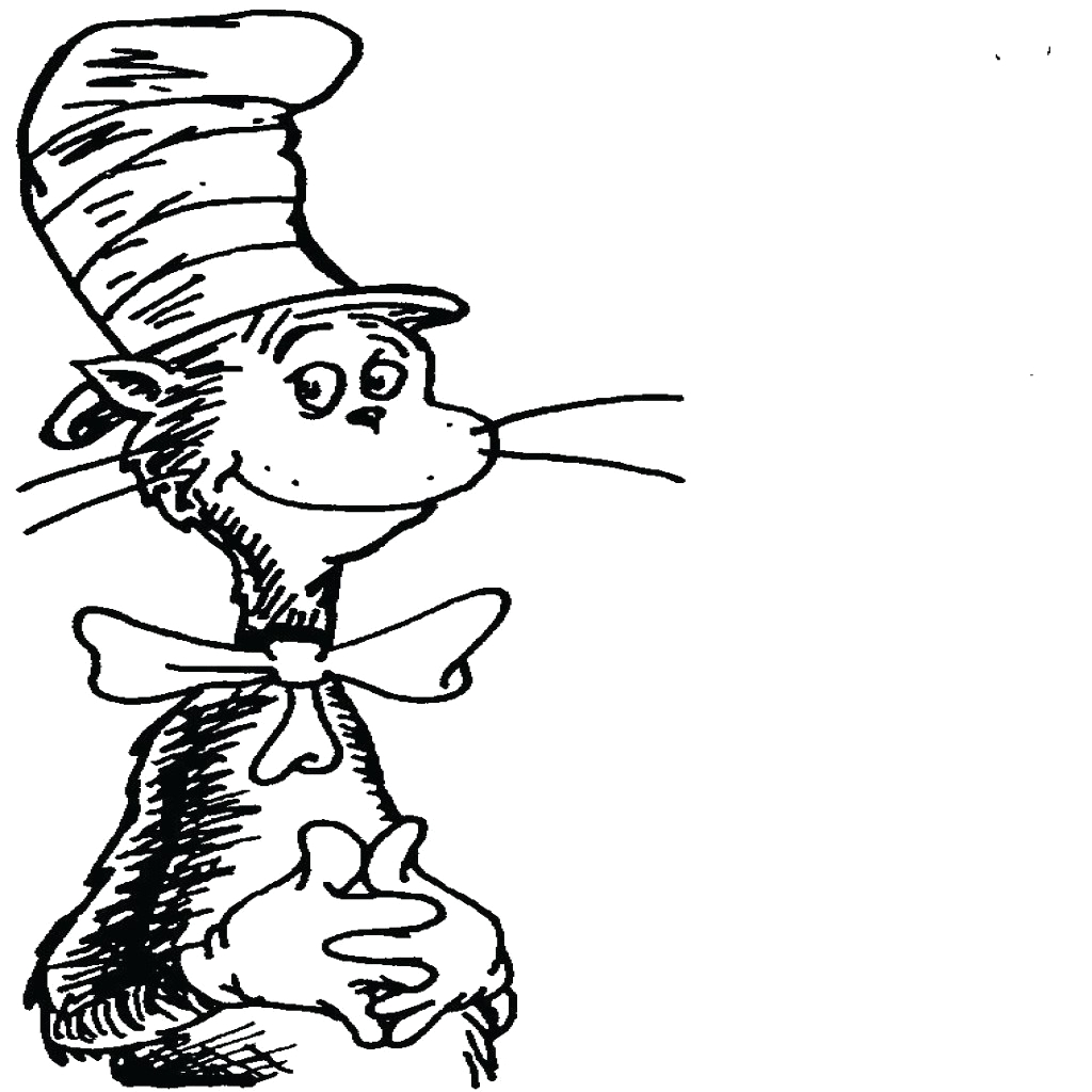 dr seuss thing one and thing two coloring pages