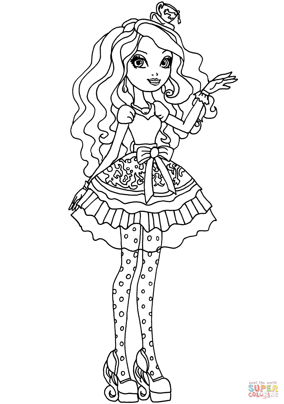 Ever after High Madeline Hatter Coloring Pages Ever after High Madeline Hatter Coloring Page