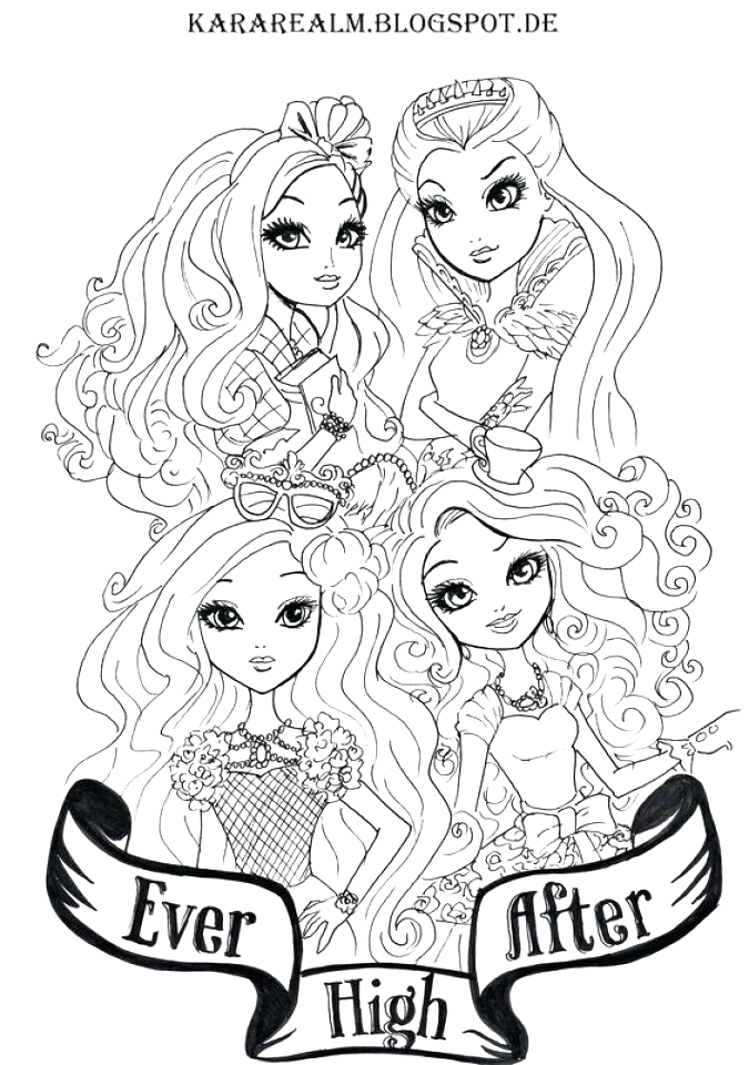ever after high madeline hatter coloring pages