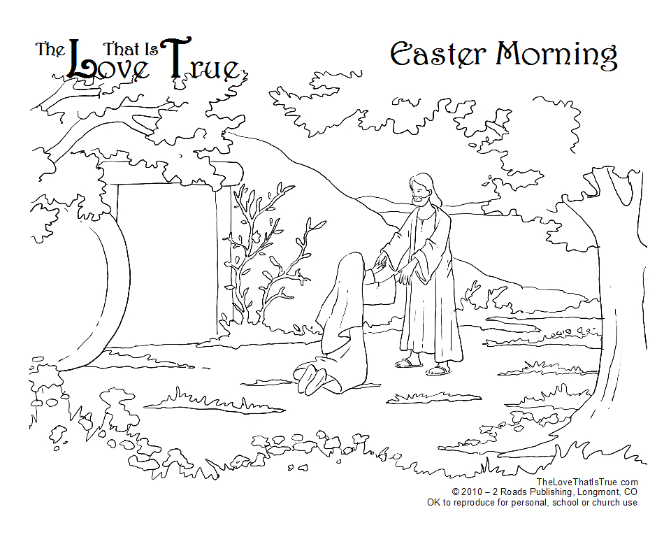 easter coloring pages for sunday school