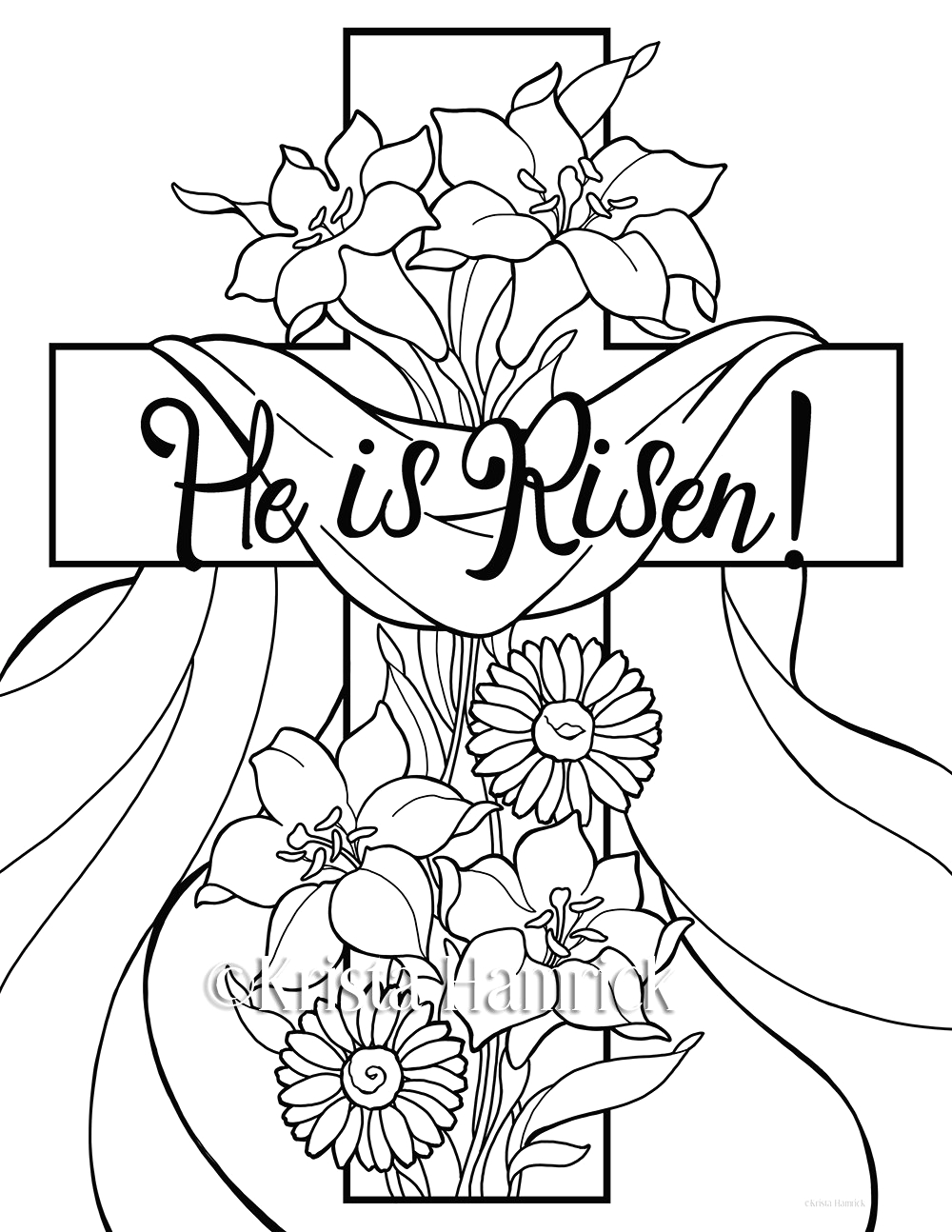 he is risen 2 easter coloring pages for