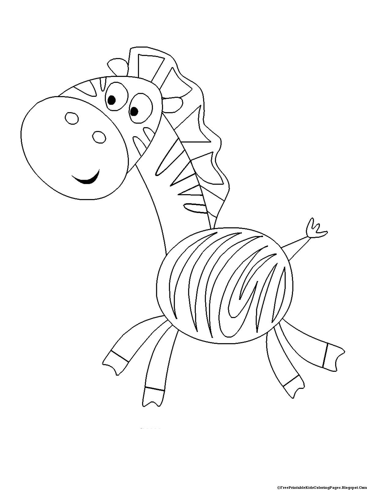 Free Coloring Pages for toddlers to Print Zebra Coloring Pages Free Printable Kids Coloring Pages
