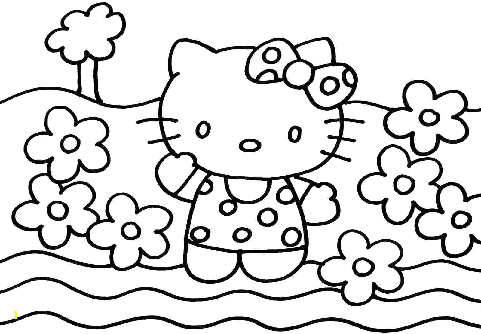 colouring pictures hello kitty friends