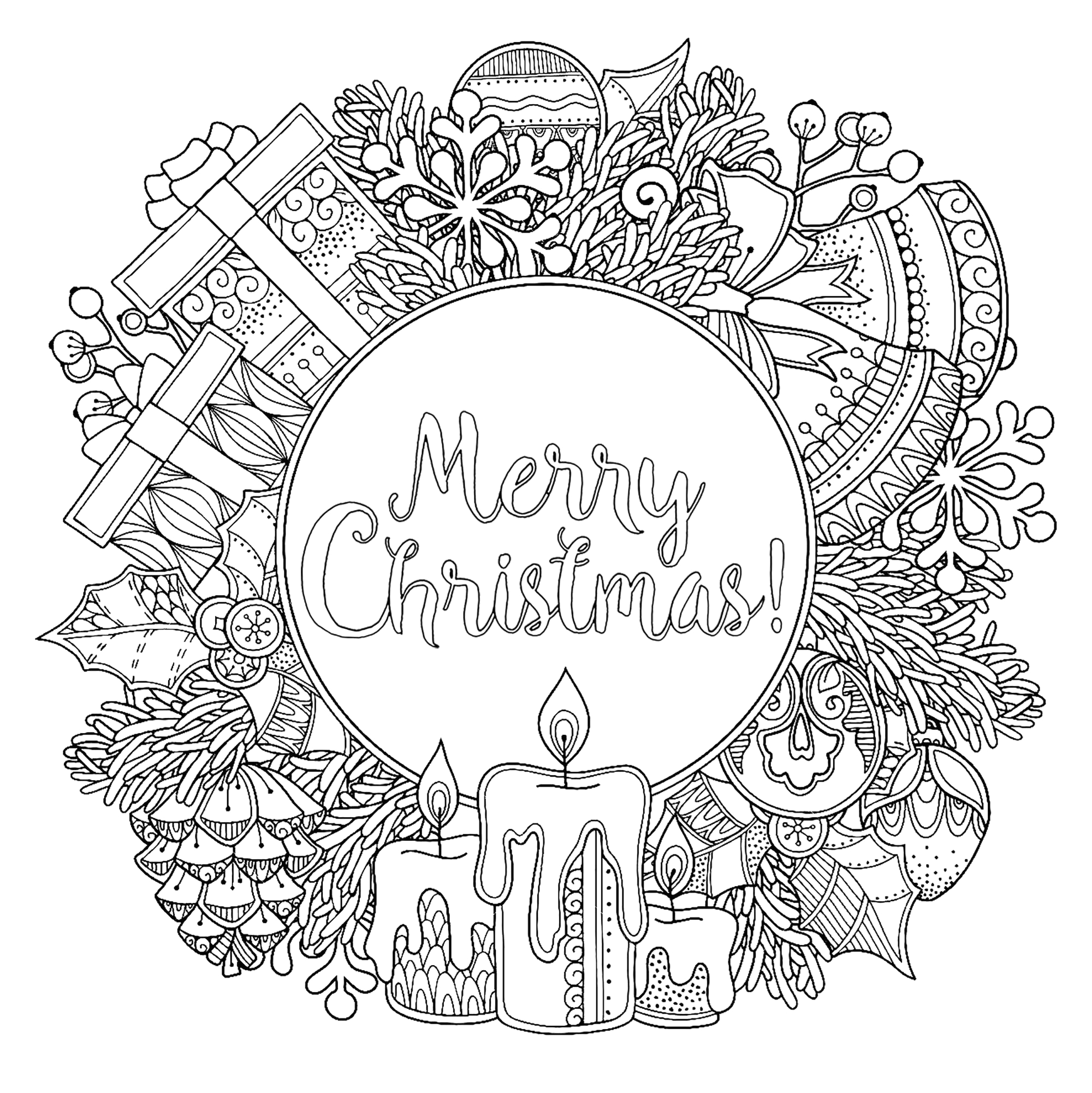 image=events christmas coloring christmas wreath 1