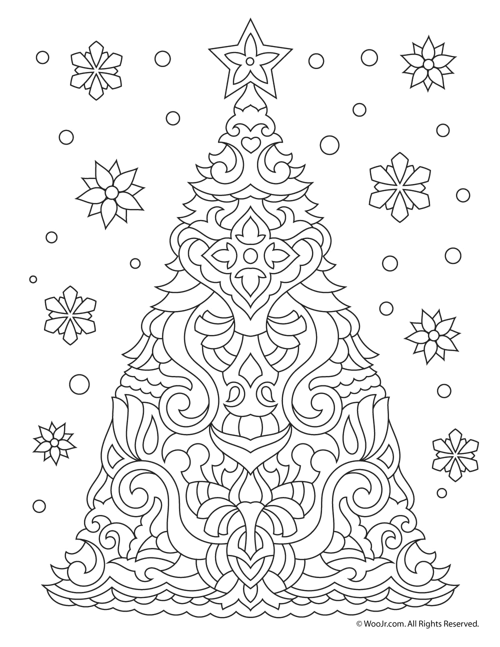 free printable christmas coloring pages for adults 7