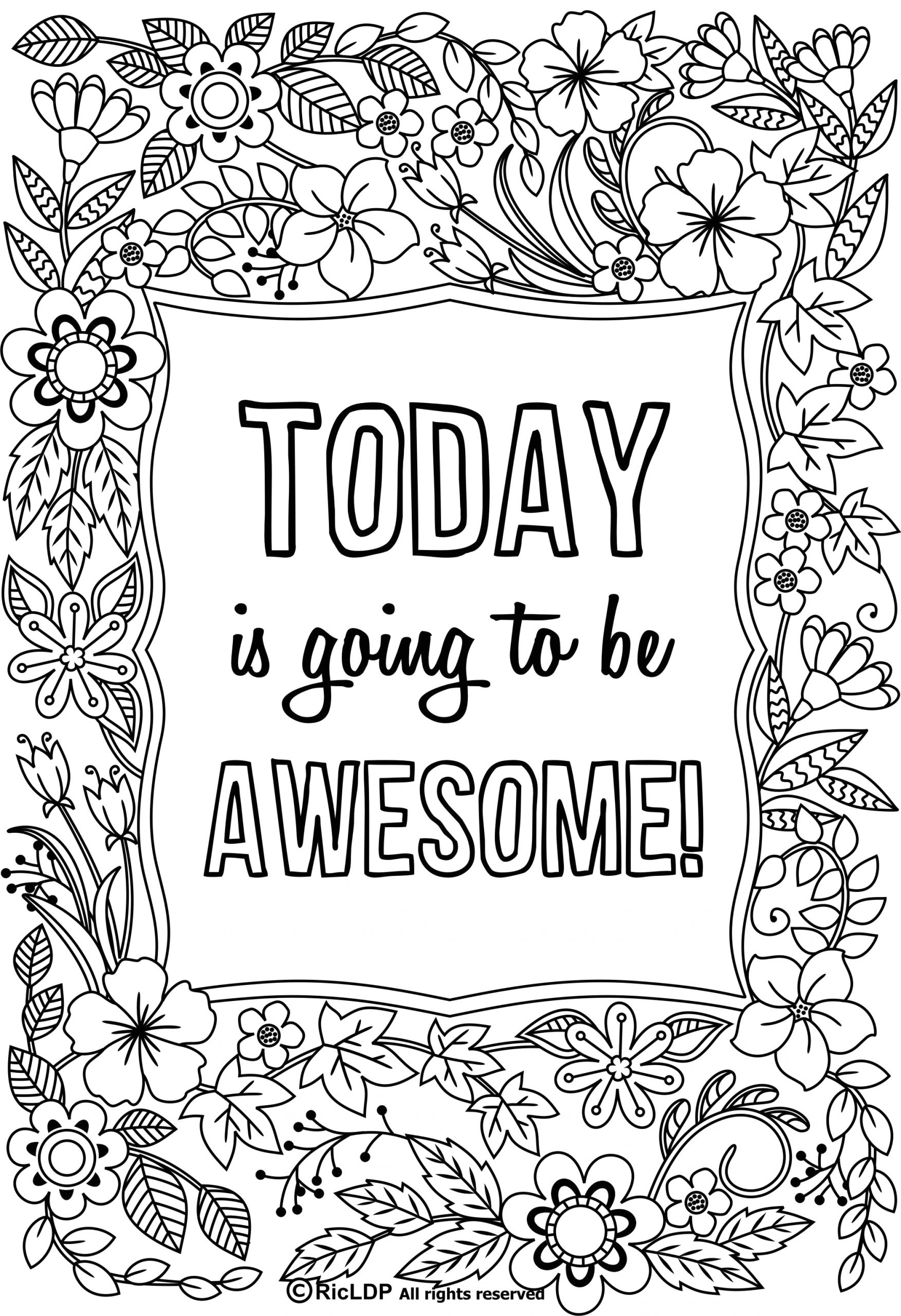 Free Online Coloring Pages for Adults Quotes Pin On Coloring Pages
