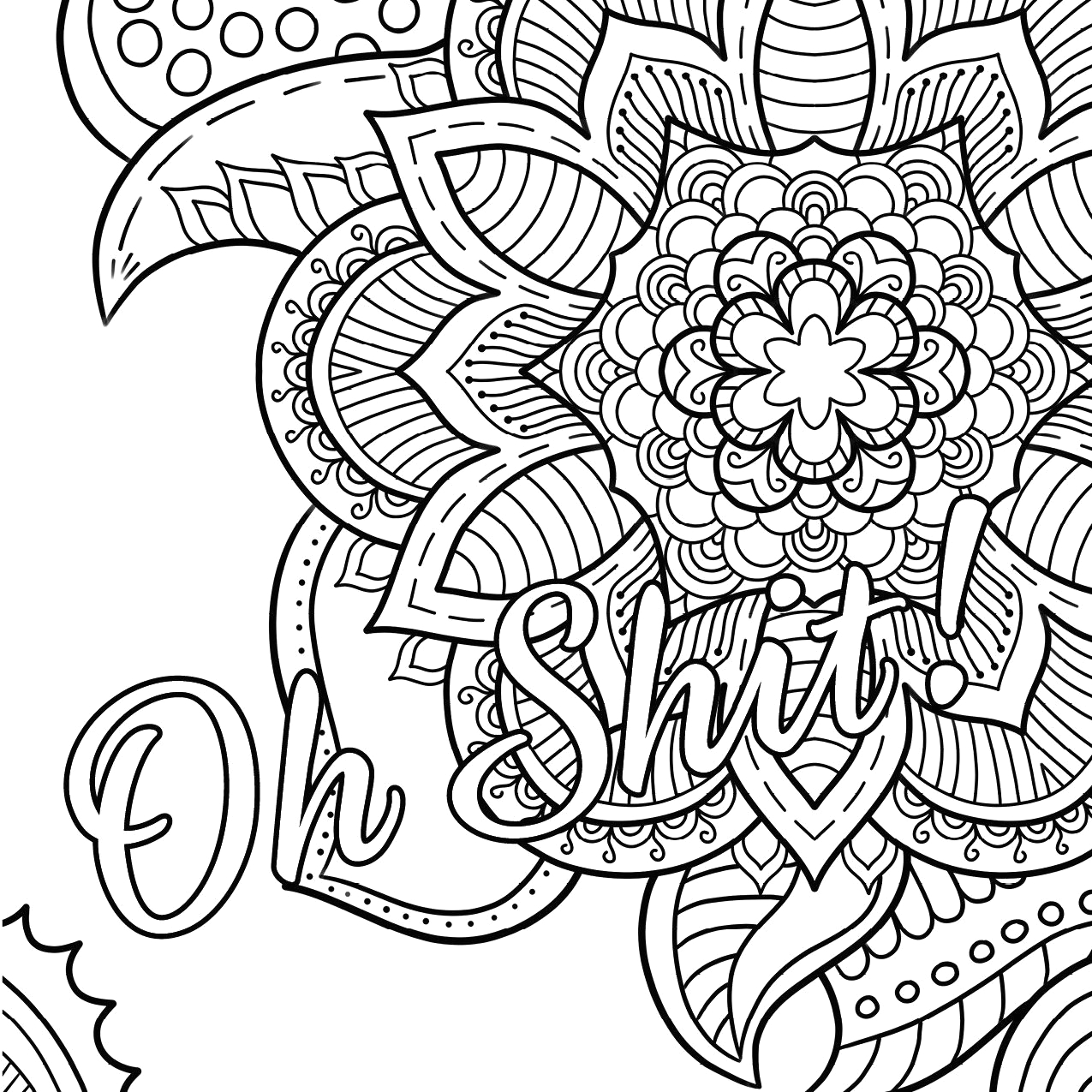 Free Online Coloring Pages for Adults Swear Words Free Printable Coloring Pages for Adults Swear Words