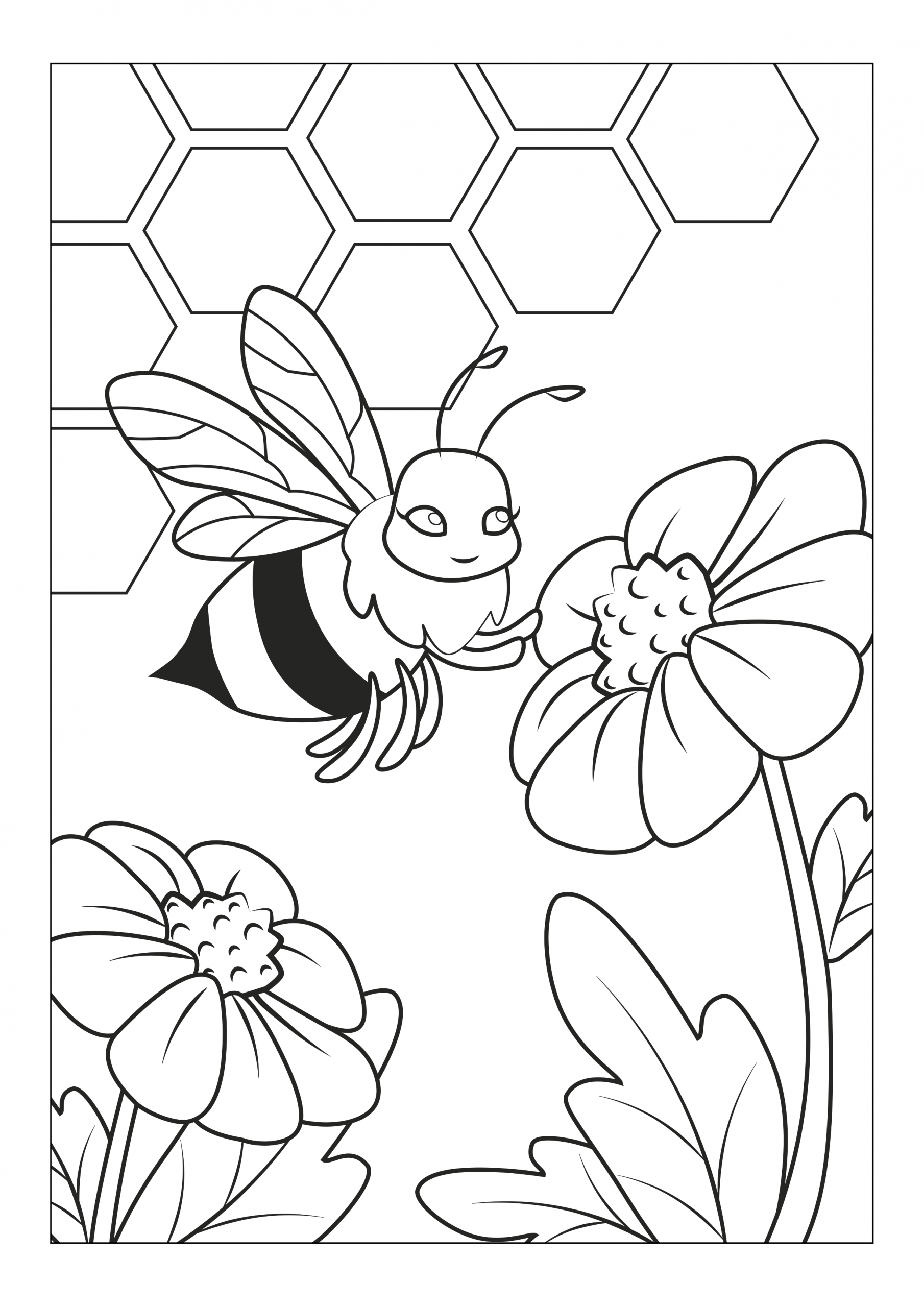 Free Online Coloring Pages to Color Online Free Line Coloring Pages with Super Cool Bugs