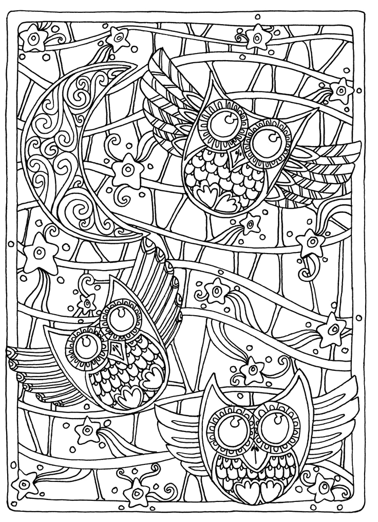 pleted adult coloring pages