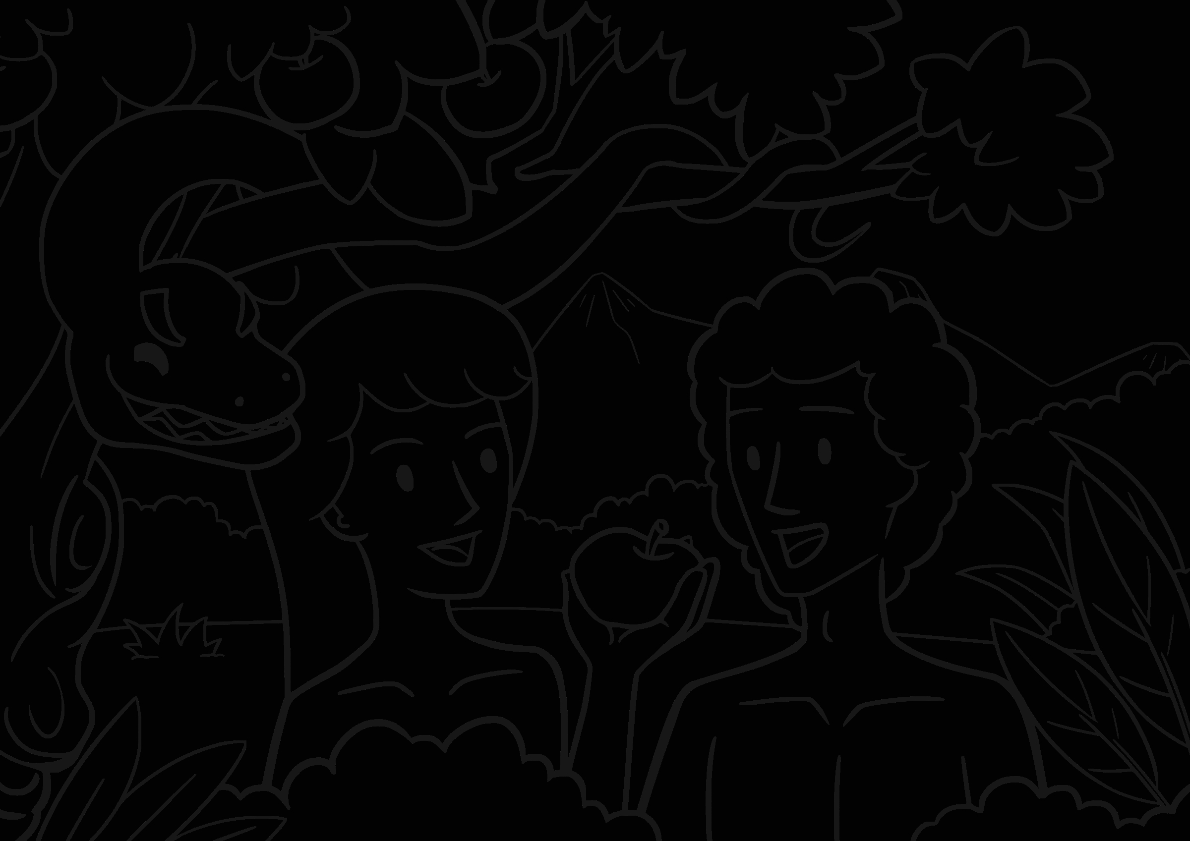 adam and eve coloring lesson kids coloring page