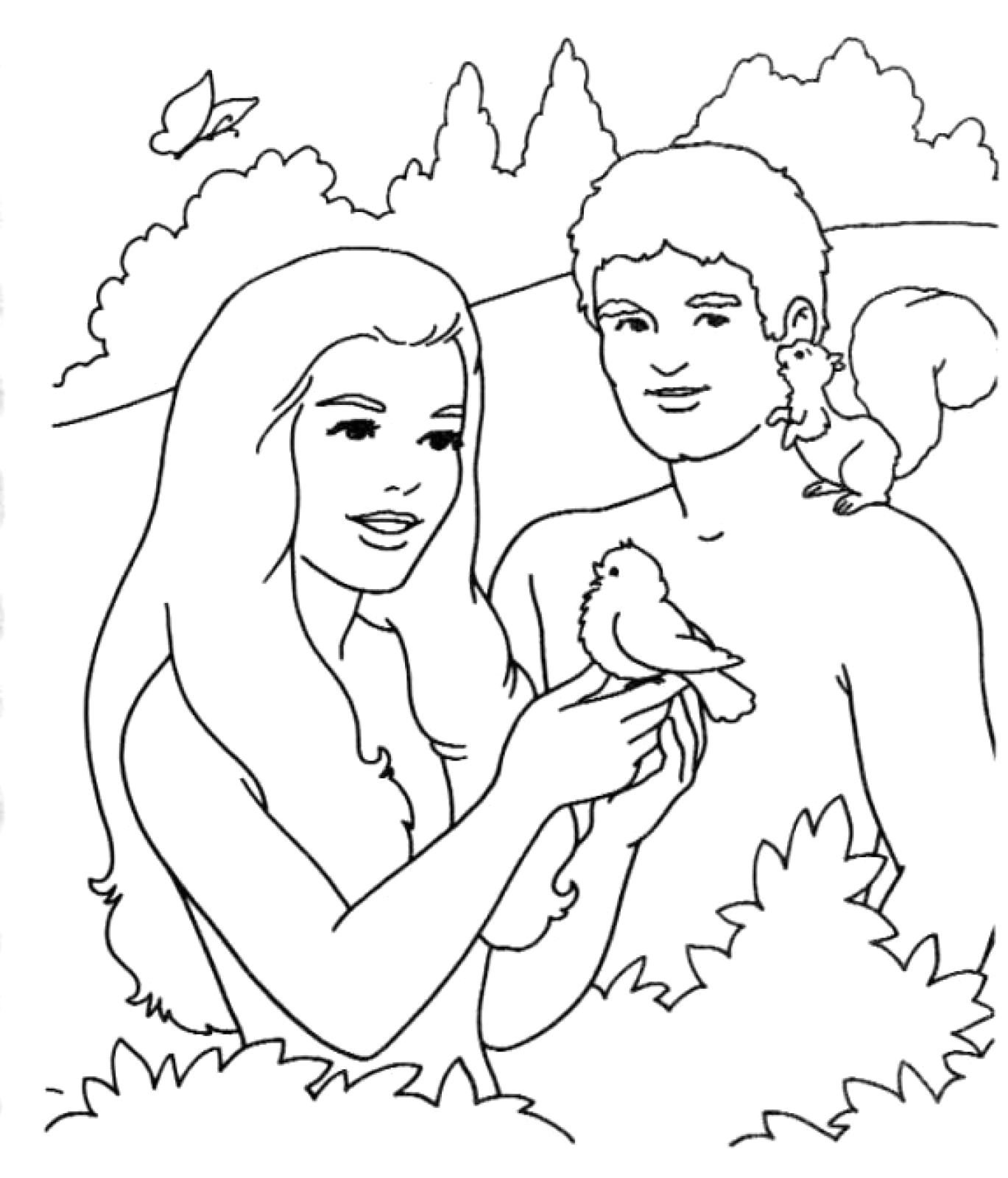 Free Printable Adam and Eve Coloring Pages Free Printable Adam and Eve Coloring Pages for Kids Best