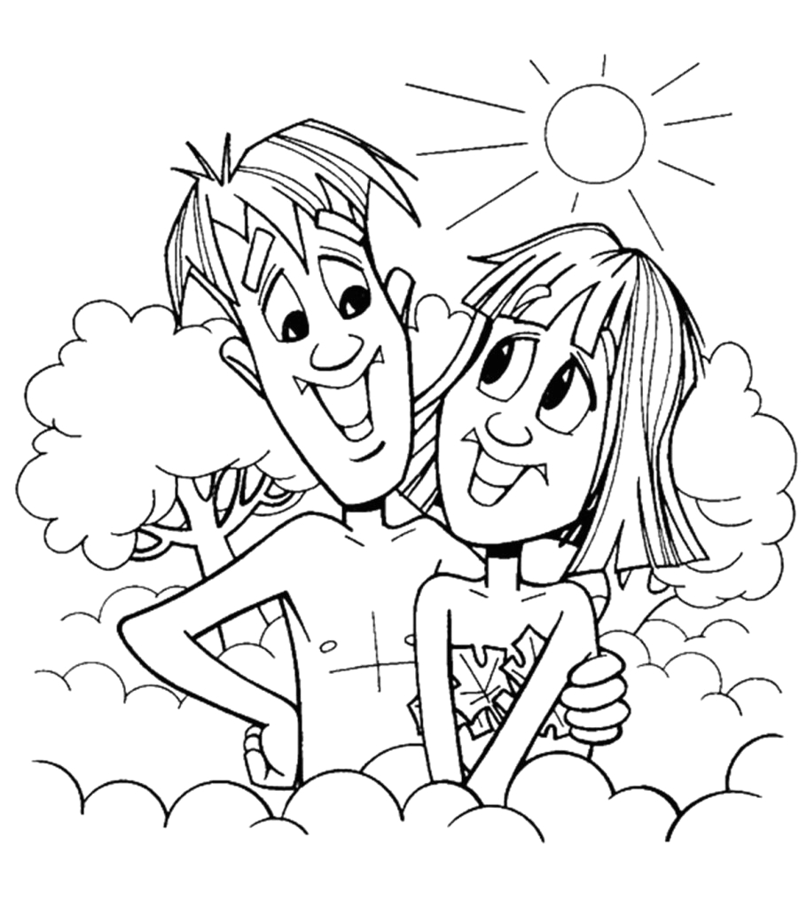 best adam and eve coloring pages for your toddler