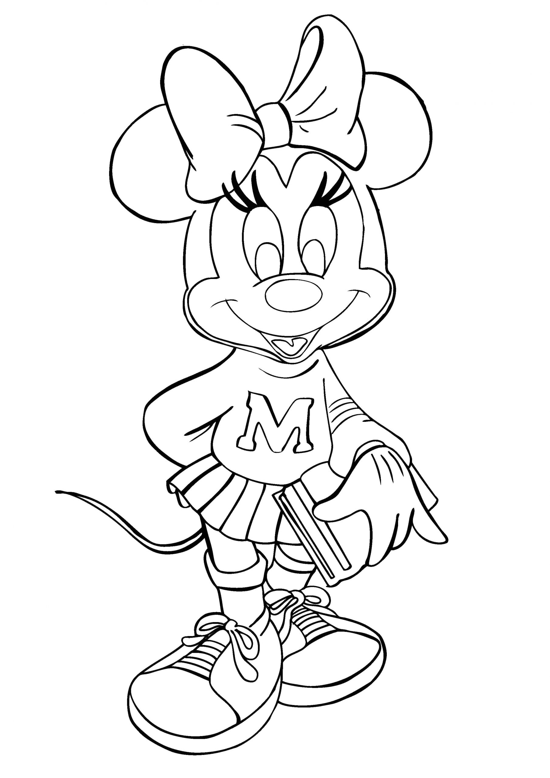 Free Printable Coloring Pages Of Minnie Mouse Free Printable Minnie Mouse Coloring Pages for Kids