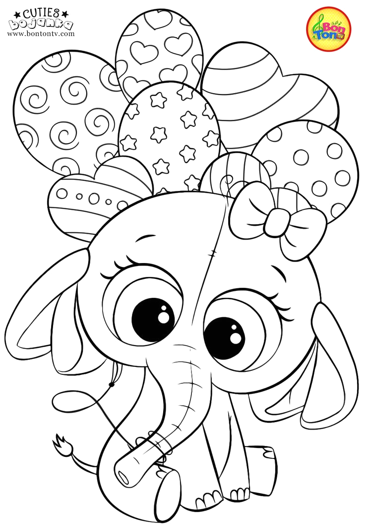Free Printable Cute Coloring Pages for Kids Cuties Coloring Pages for Kids Free Preschool Printables