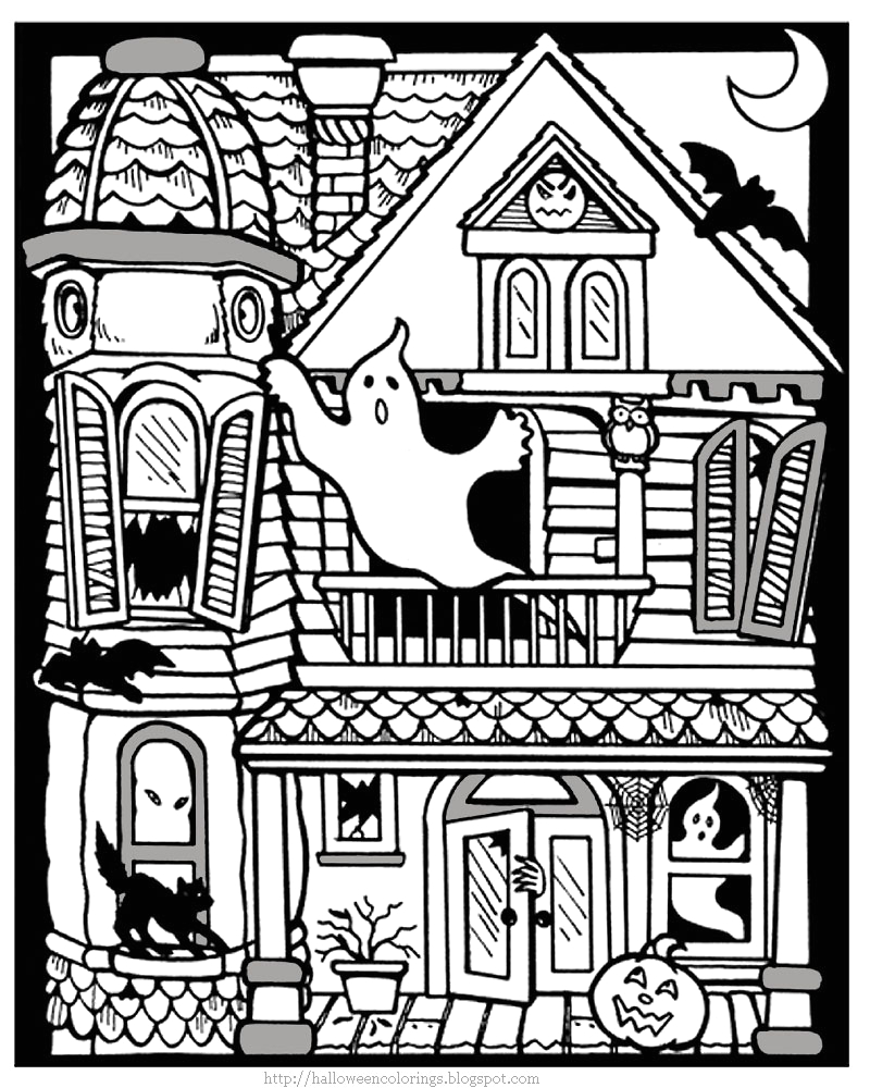 Free Printable Halloween Coloring Pages Haunted House Printable Halloween Coloring Pages Printable Halloween
