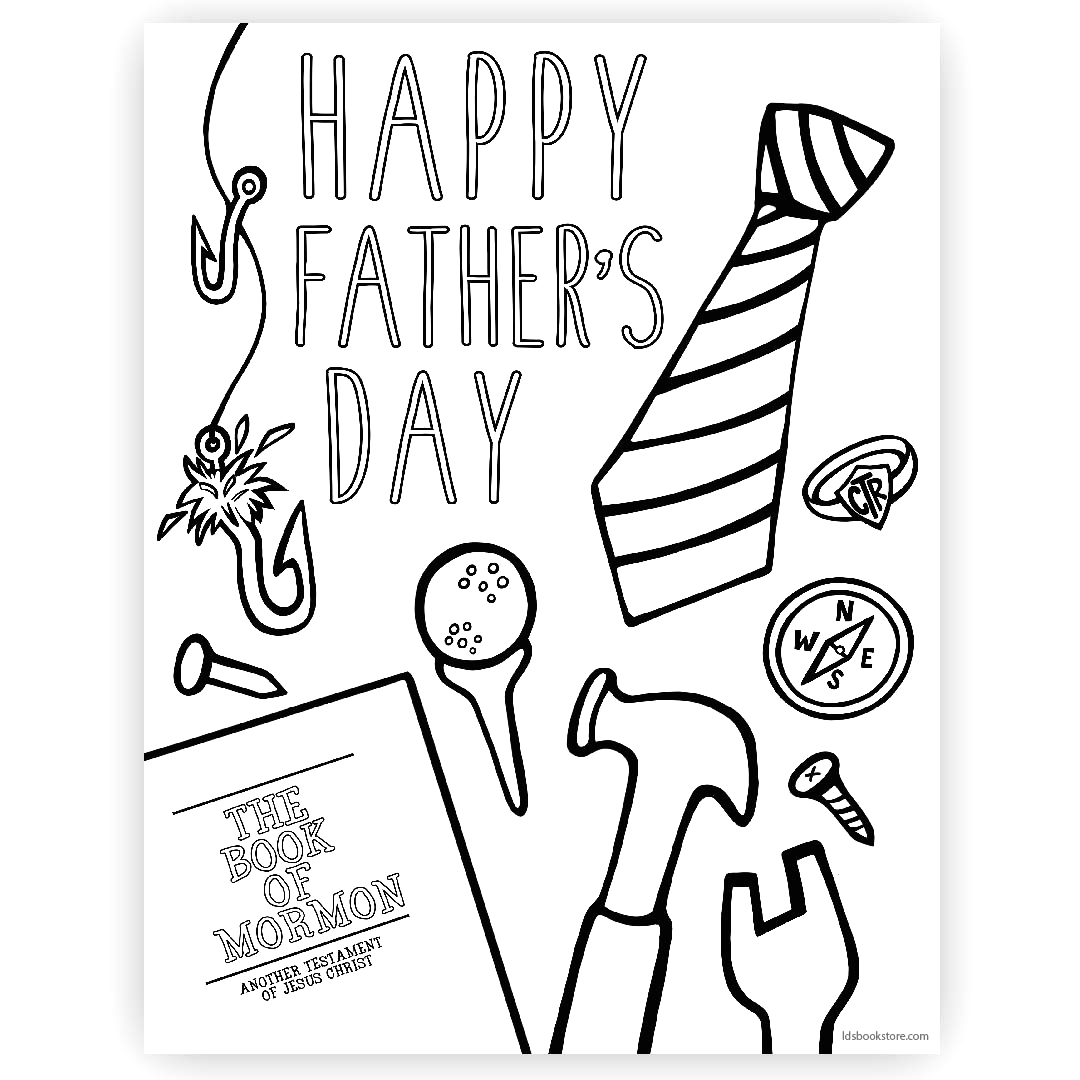 happy fathers day coloring page printable