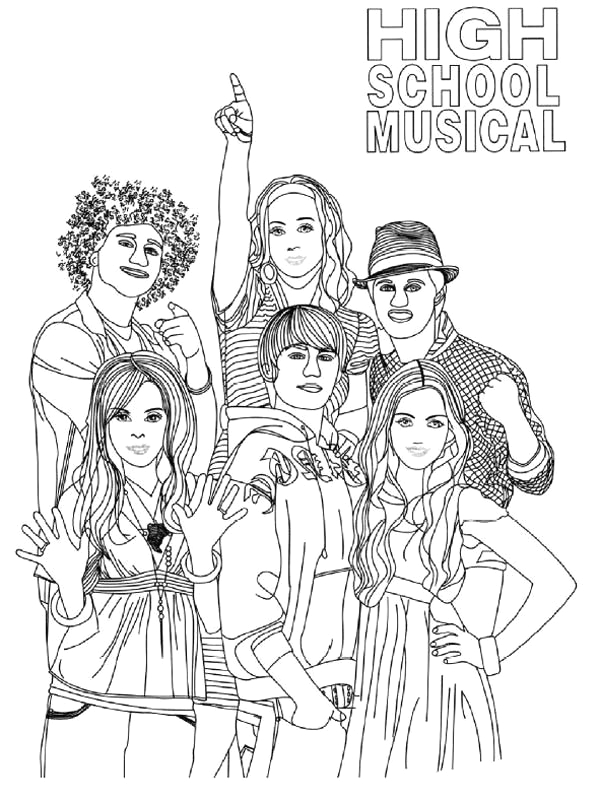 picture of high school musical coloring page