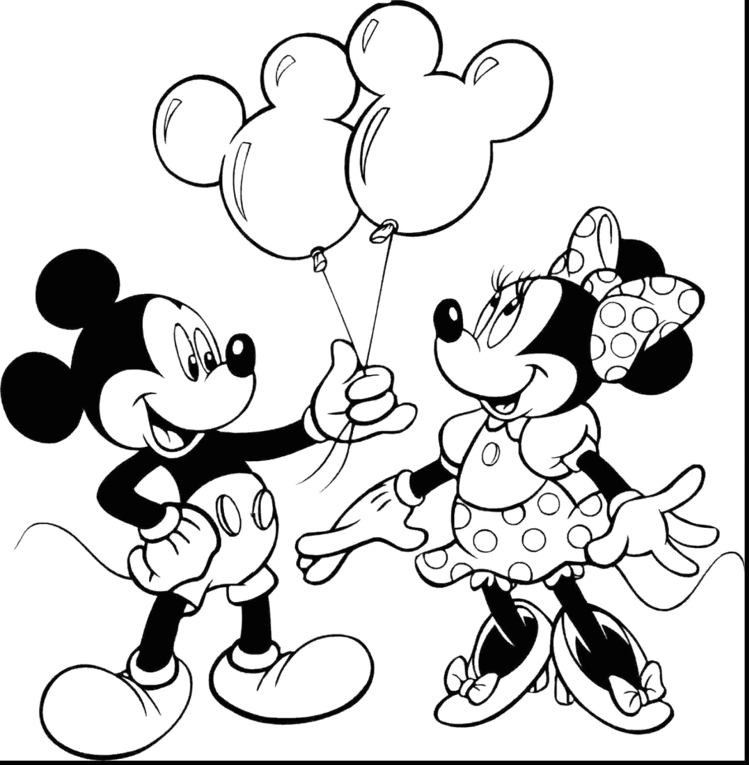 Free Printable Mickey and Minnie Mouse Coloring Pages Mickey and Minnie Coloring Pages Modest Minnie Mouse