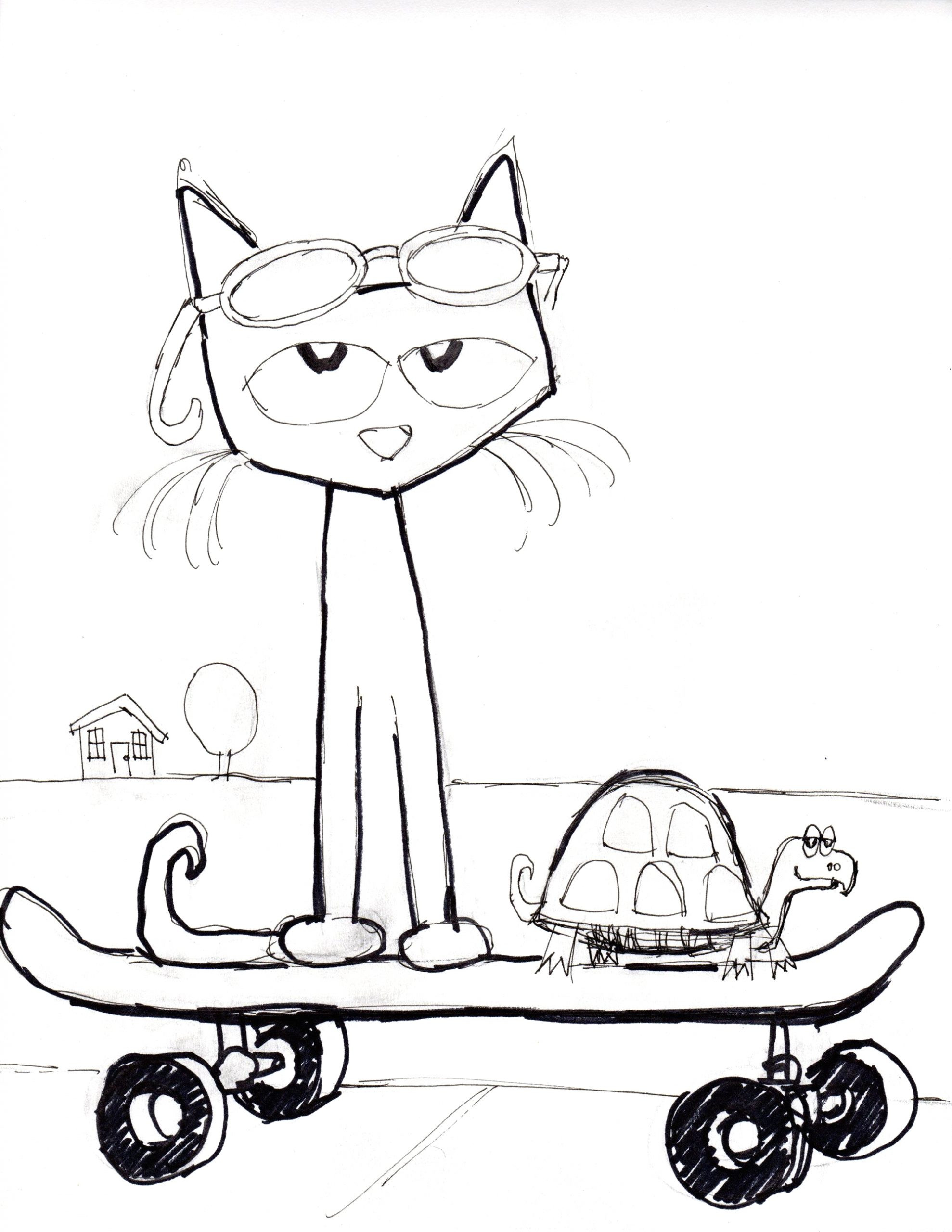 Free Printable Pete the Cat Coloring Pages Cat Coloring Page Pete the Cat Pete the Cats