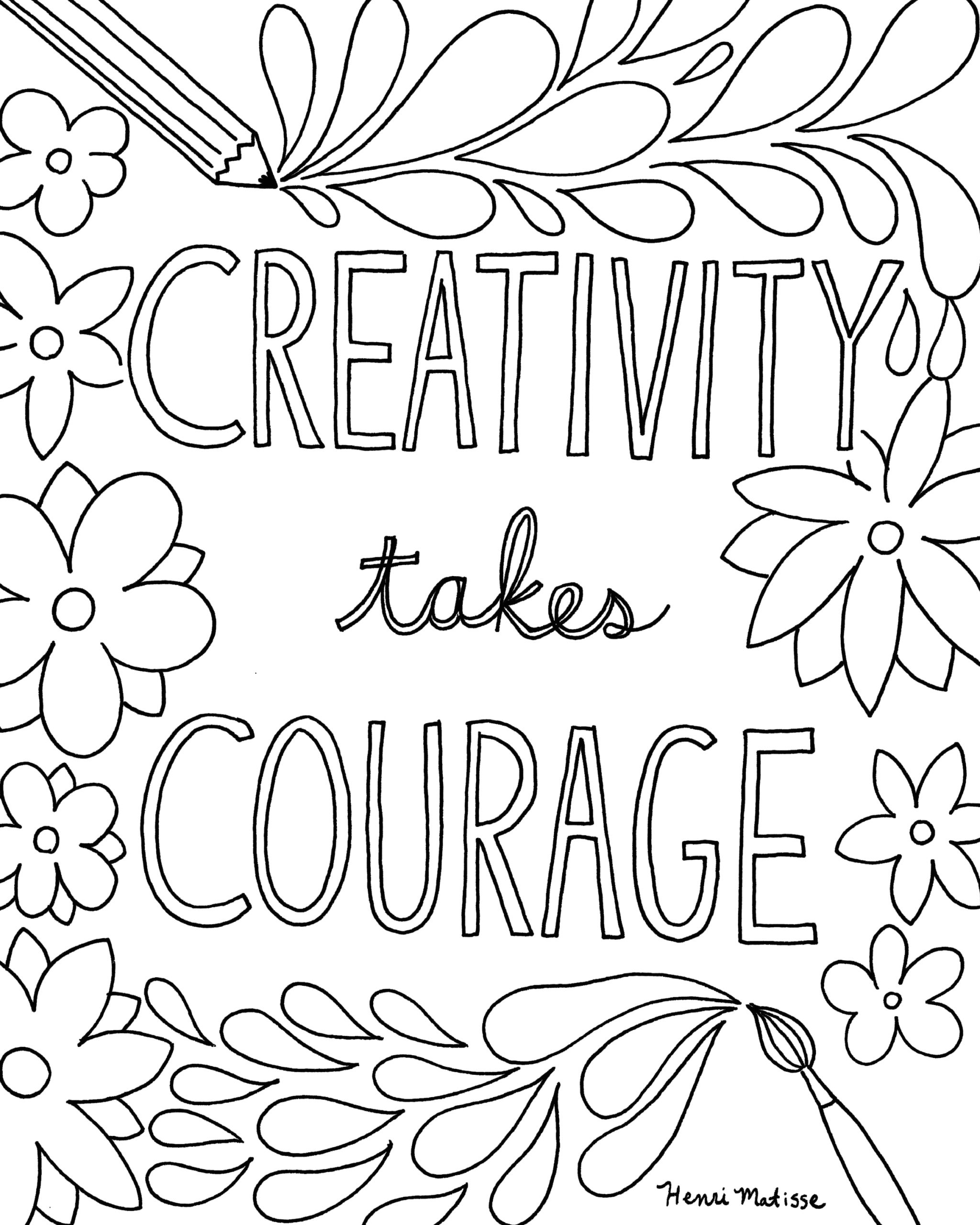 Free Printable Sayings Coloring Pages for Adults Craftsy Express Your Creativity