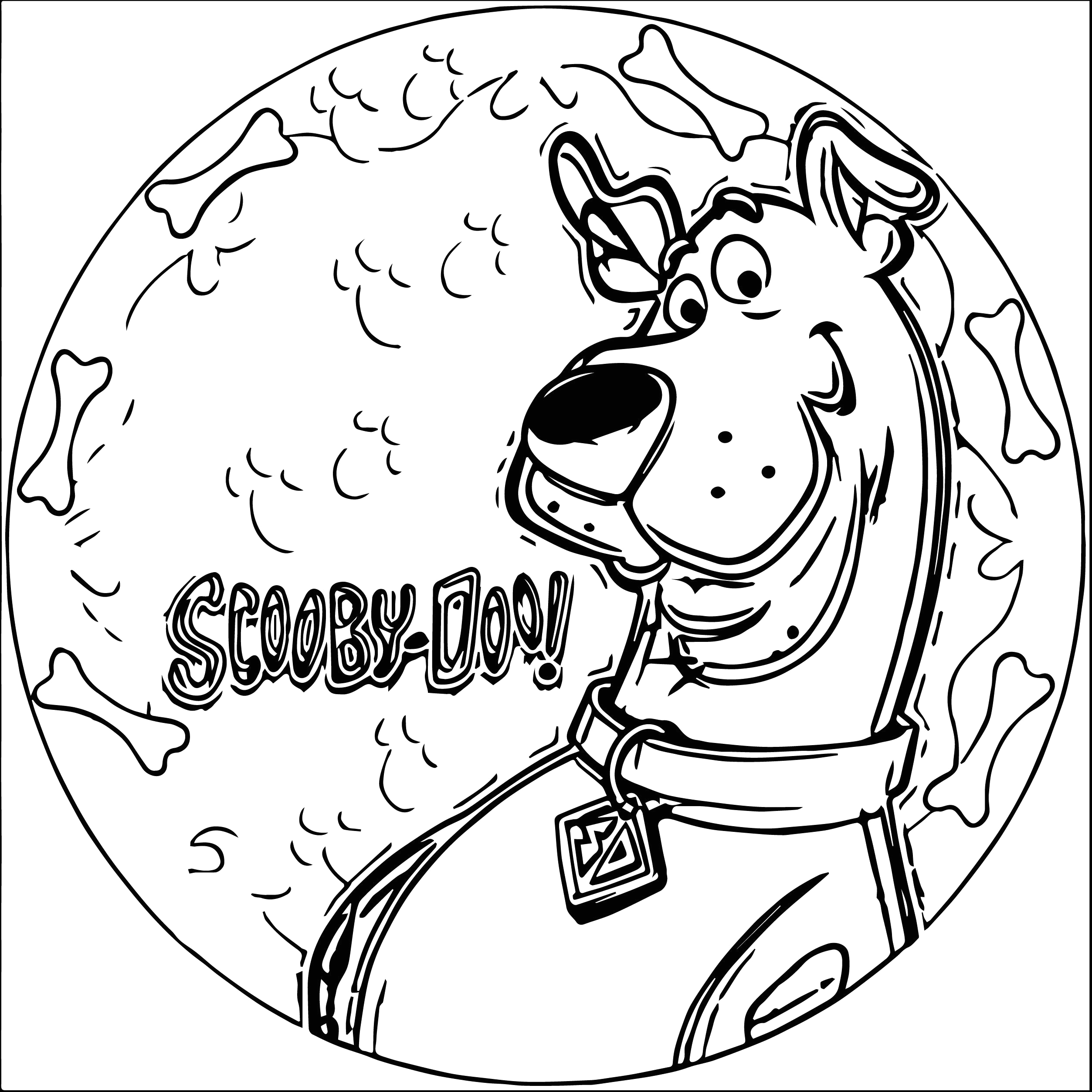 scooby doo christmas coloring pages