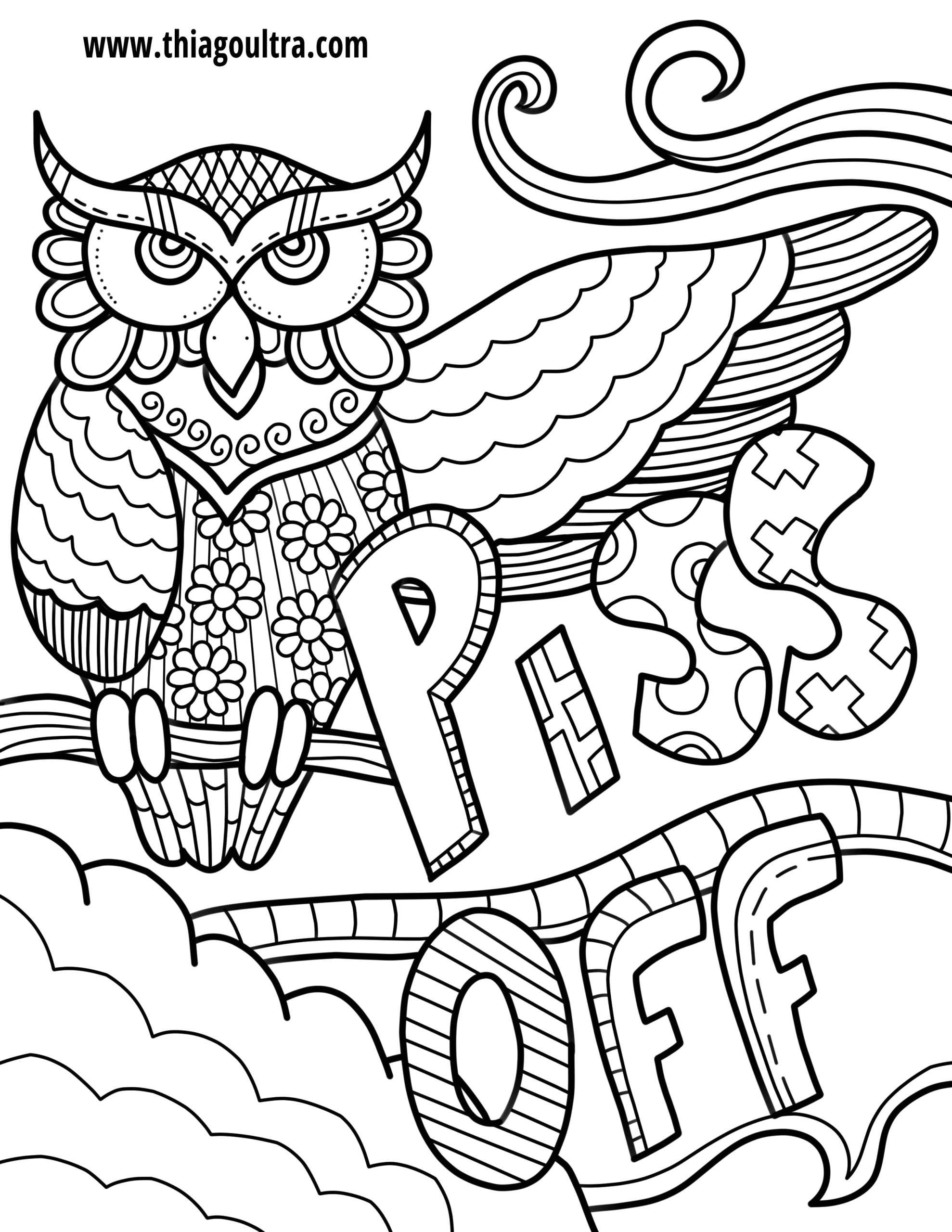 Free Printable Swearing Coloring Pages for Adults Free Printable Coloring Pages for Adults Ly Swear Words