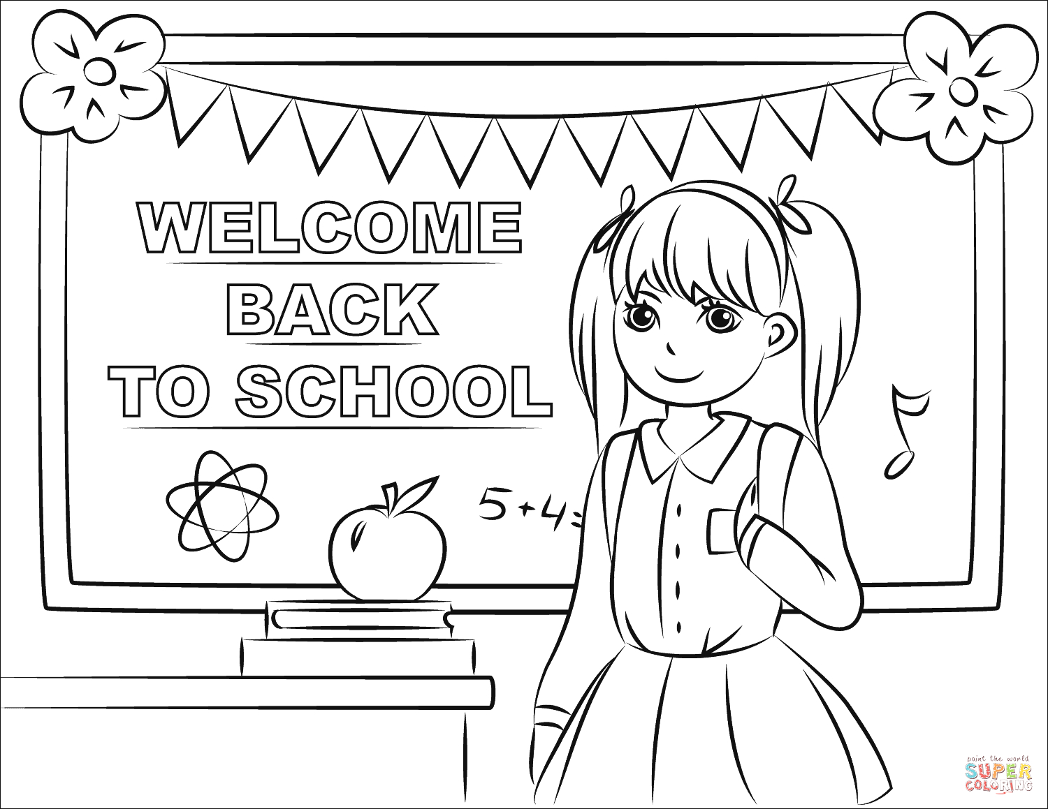 Free Printable Welcome Back to School Coloring Pages Wel E Back to School Coloring Page
