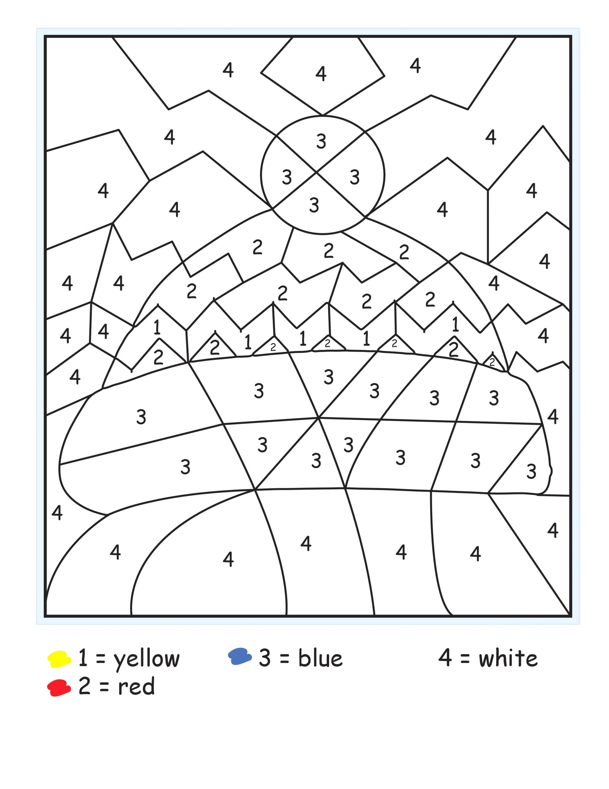 winter color by number free printables 5