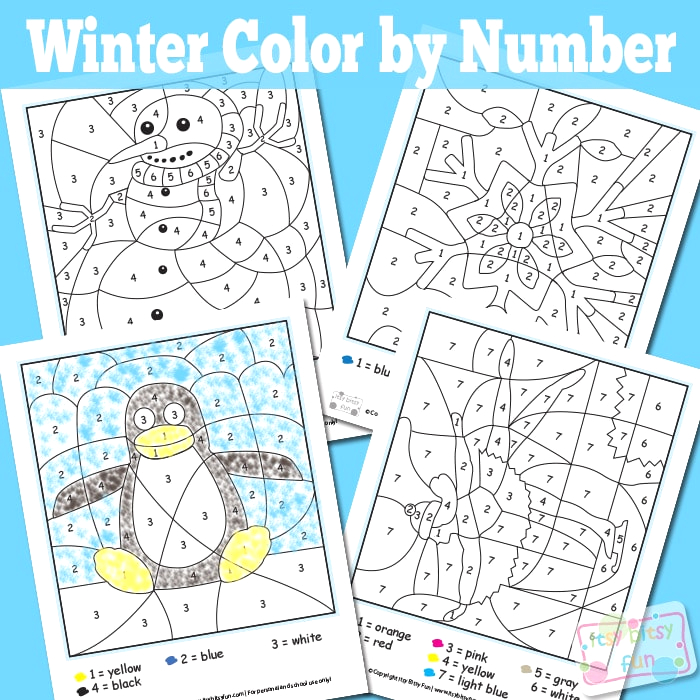 winter color by numbers