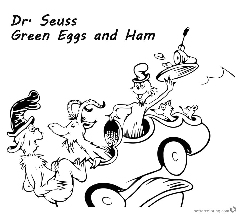 dr seuss green eggs and ham coloring pages could not with goat