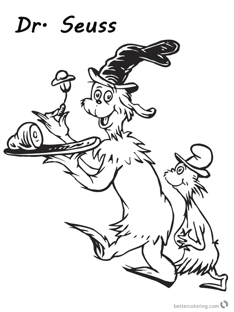 funny dr seuss green eggs and ham coloring pages