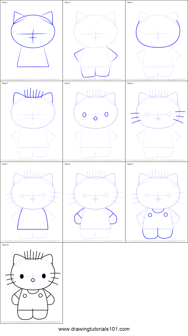 how to draw dear daniel from hello kitty printable