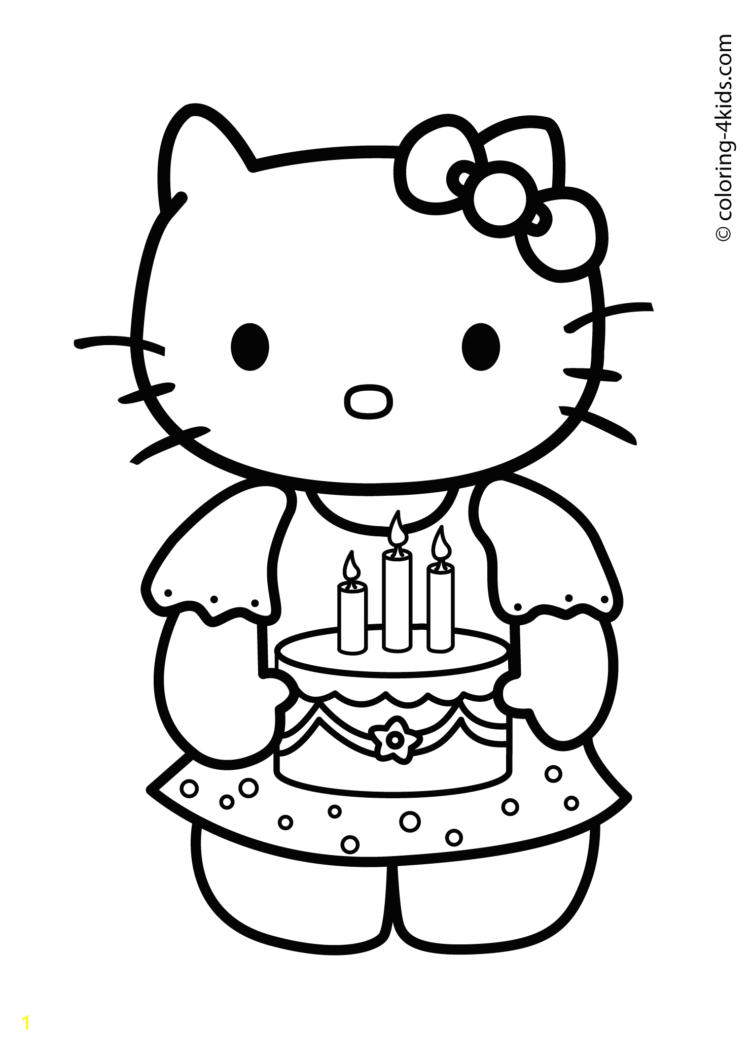 hello kitty well soon coloring pages