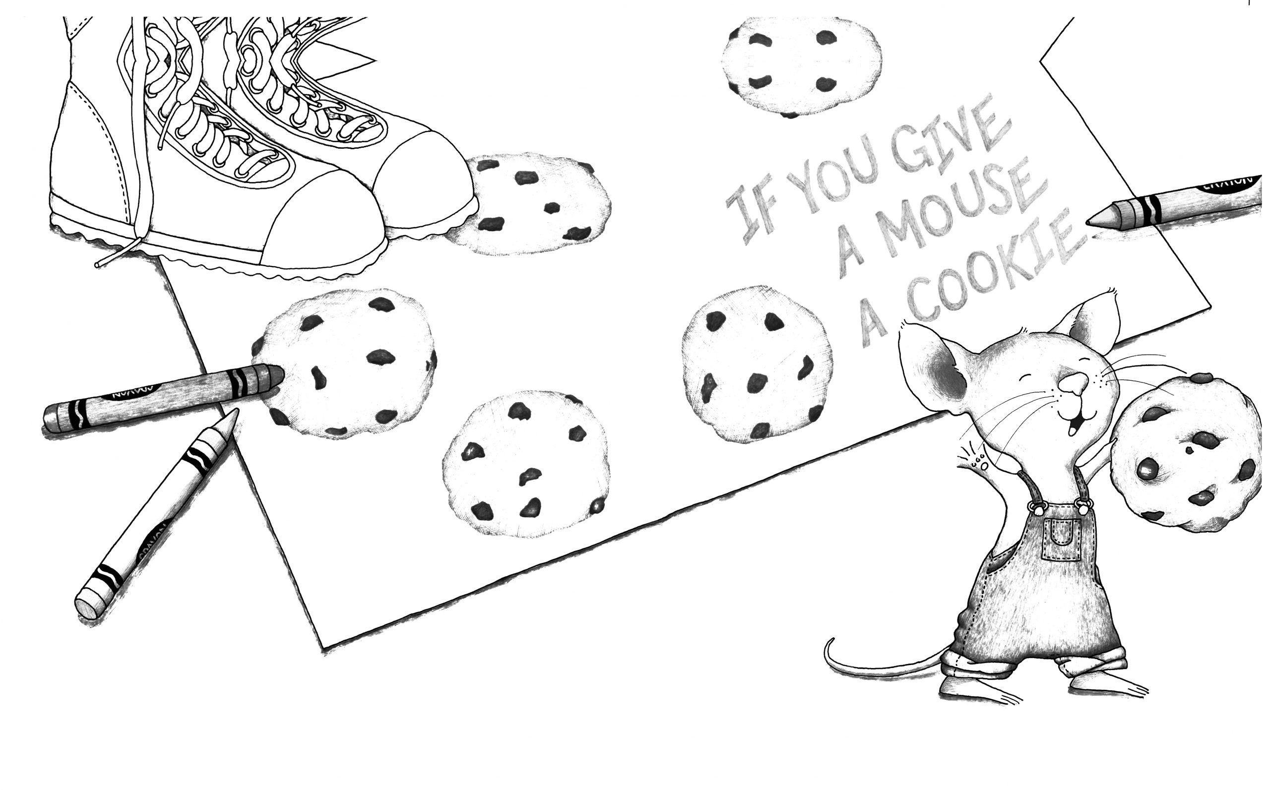 If You Give A Mouse A Cookie Coloring Pages Free if You Give A Mouse A Cookie Coloring Page Coloring Home