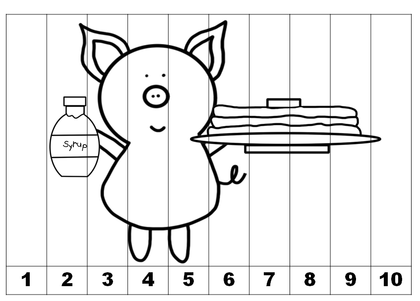 counting and skip counting printables based on if you give a pig a pancake