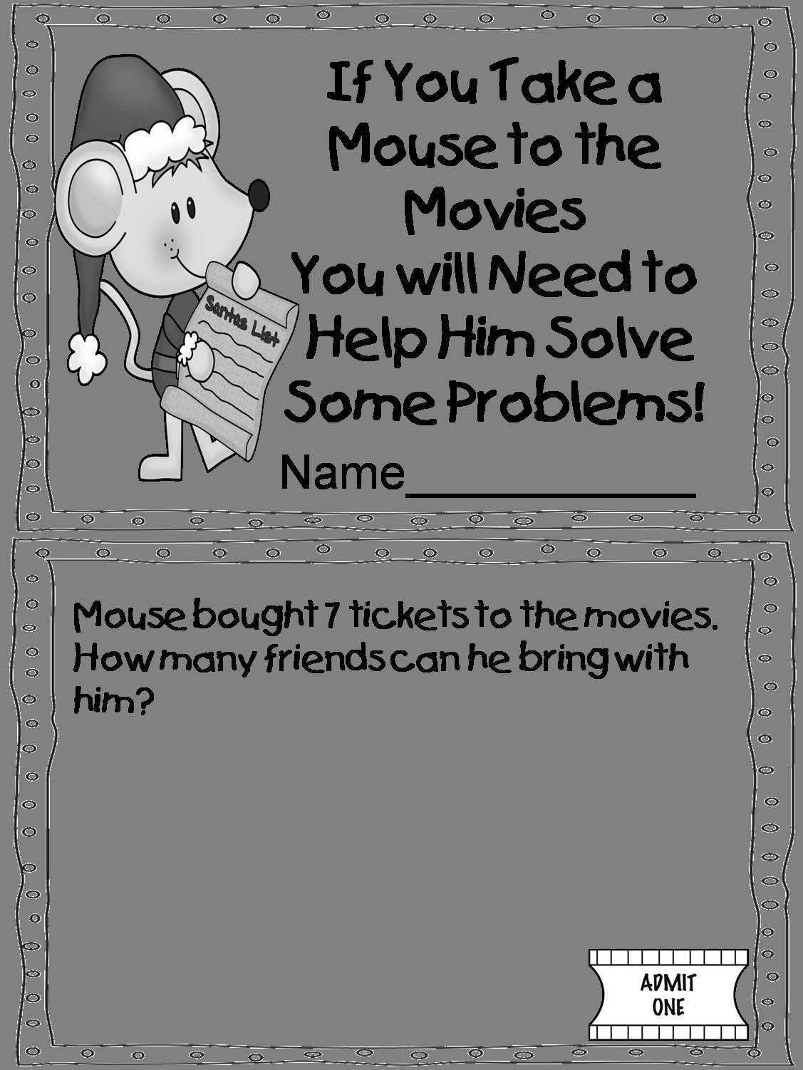 If You Take A Mouse to the Movies Coloring Page if You Take A Mouse to the Movies Coloring Page Coloring