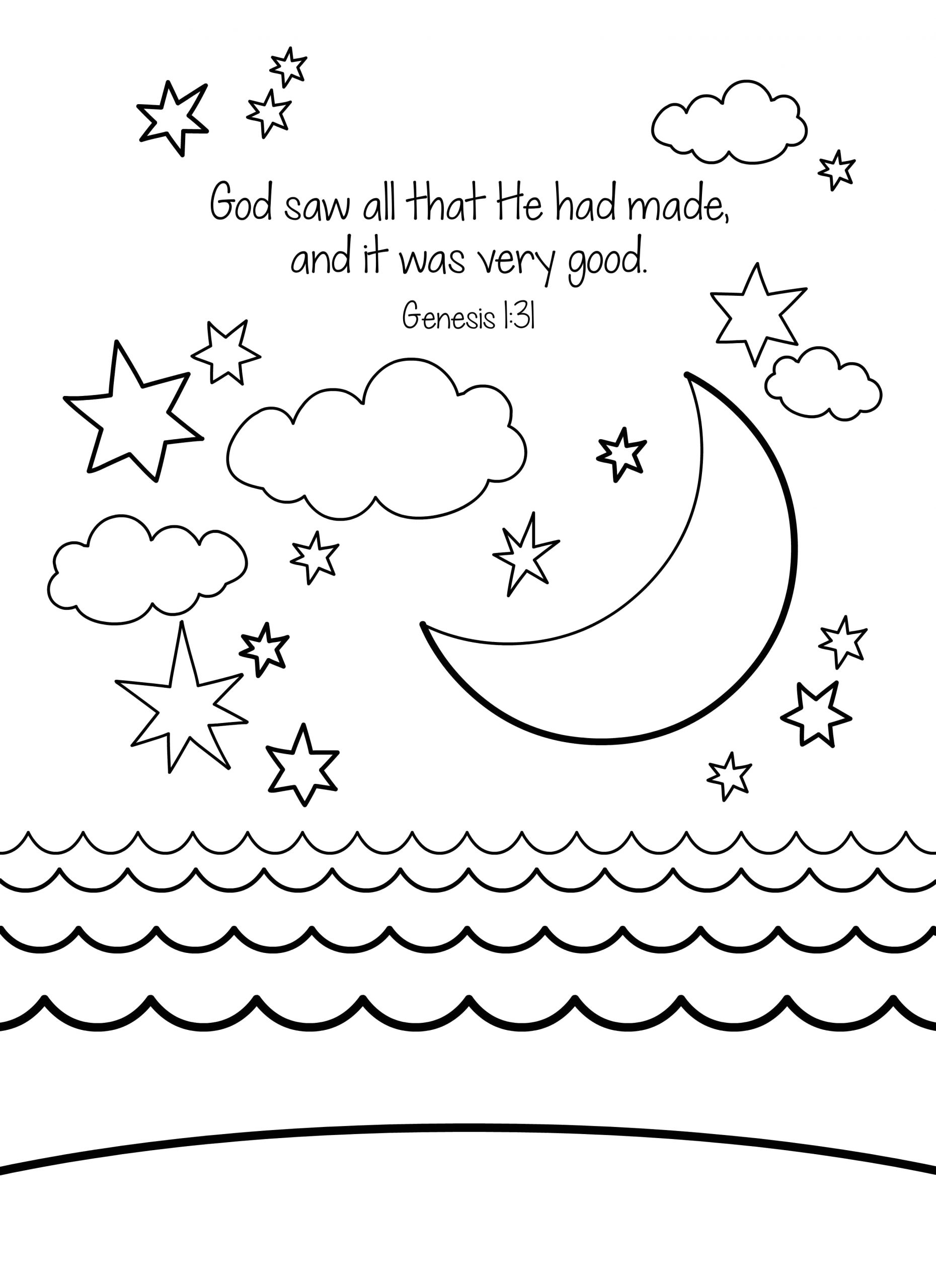 in the beginning god created coloring pages sketch templates